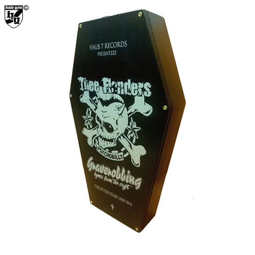 "THEE FLANDERS - ""Graverobbing - Hymns from the Crypt (Collected Years 2006-2016)"" Sarg-CD BOX"