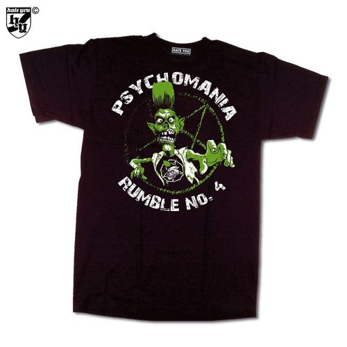 "T-SHIRT ""PSYCHOMANIA-RUMBLE # 4"" - 2010"