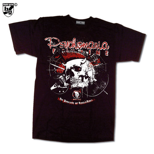 "T-SHIRT ""PSYCHOMANIA FANZINE - THE DARKSIDE OF R`N´R"""