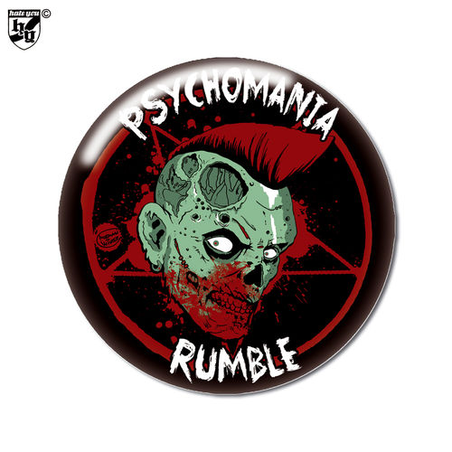 "BUTTON ""PSYCHOMANIA RUMBLE - ZOMBIE"""