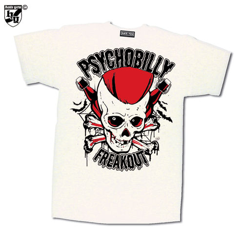 "T-SHIRT ""PSYCHOBILLY FREAKOUT vs BLOODSTAINS"""