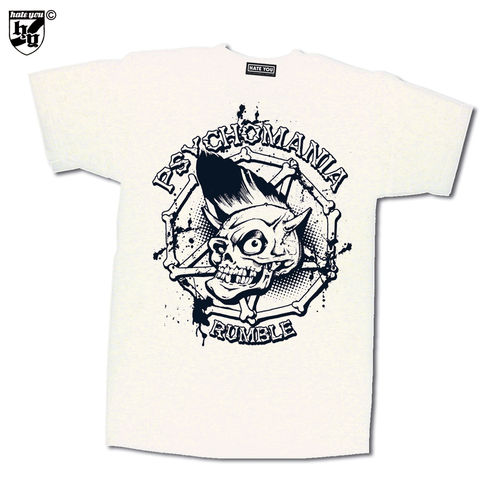 "T-SHIRT ""PSYCHOMANIA RUMBLE - SKULL vs BLOODSTAINS"""