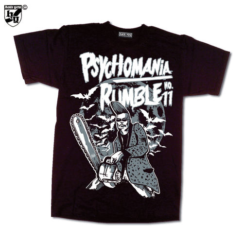 "T-SHIRT ""PSYCHOMANIA-RUMBLE # 11"" - 2017"