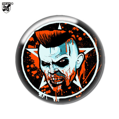 "BUTTON ""PSYCHOMANIA - PSYCHO, BLOODY PSYCHO"""