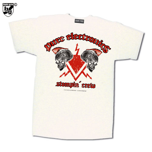 "T-SHIRT ""PURE ELECTRONICS - STOMPIN´ CREW vs OLD ENGLISH VINTAGE"""