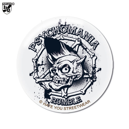 "BUTTON ""PSYCHOMANIA RUMBLE - SKULL"""