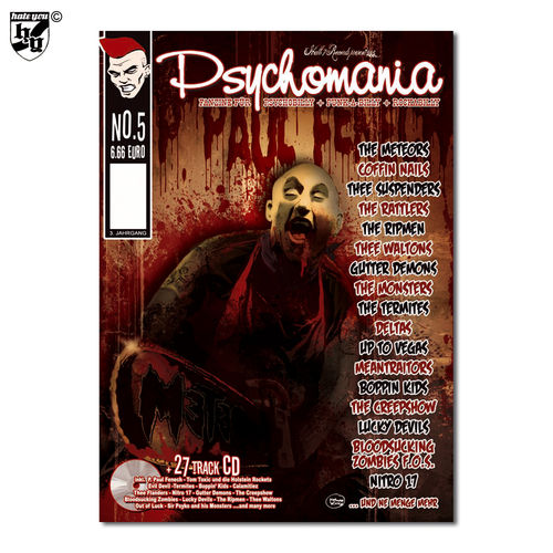 PSYCHOMANIA # 5 - Fanzine für Psychobilly + Punk-A-Billy + Rock-A-Billy Magazin + CD
