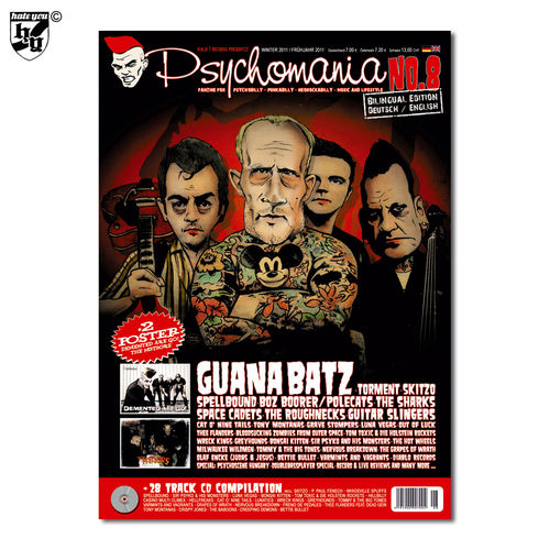 PSYCHOMANIA # 8 - Fanzine für Psychobilly + Punk-A-Billy + Rock-A-Billy Magazin + CD