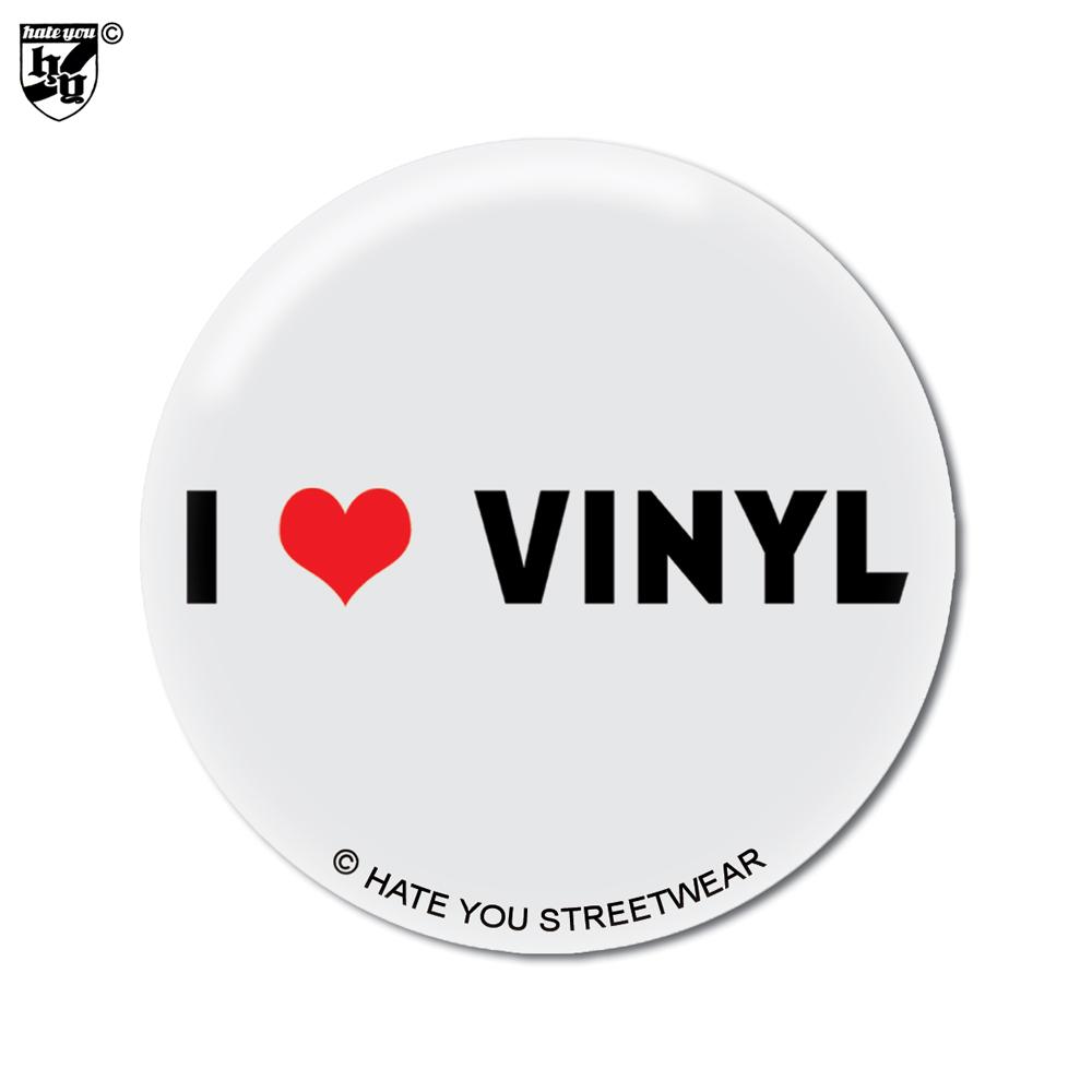 Button Quot I Love Vinyl Quot Hate You