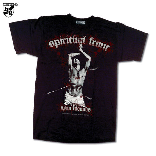 "T-SHIRT ""SPIRITUAL FRONT - OPEN WOUNDS vs PRAYING DEVIL´s HAND"""