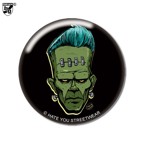 "BUTTON ""PSYCHOMANIA RUMBLE - FRANKENSTEIN"""