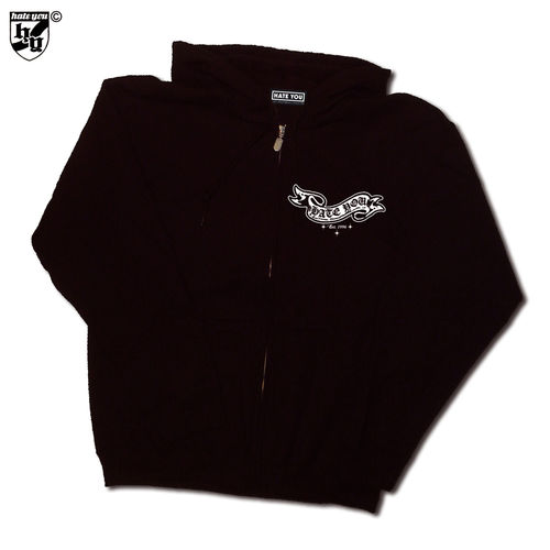 "HOODED ZIP SWEATER ""BANDEROLE vs ANTI-SOCIAL SKULL"""