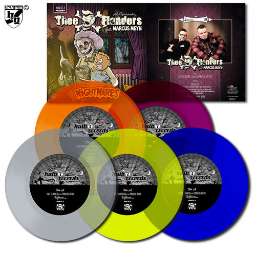 "THEE FLANDERS feat. MARCUS MEYN - ""Nightmares"" 5 x 7"" Bundle coloured"