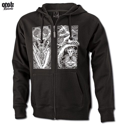 "HOODED ZIP SWEATER ""ELLI RIEHL ""Die Kornmuhme"" ://: MJÖÐR YLGJAR ""World of Stone"" Triptychon"