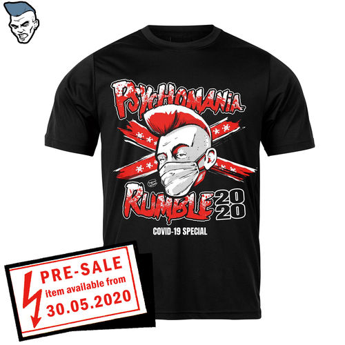 "T-SHIRT ""PSYCHOMANIA RUMBLE 2020 - COVID 19 SPECIAL vs SDWP"""