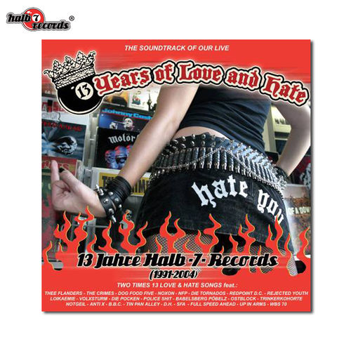 "13 YEARS OF LOVE AND HATE	""13 Jahre Halb-7-Records"" CD Sampler"